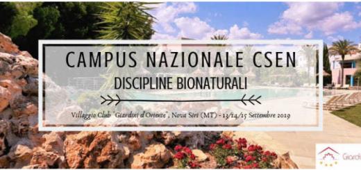 Campus Nazionale CSEN - disc bionatur